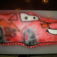 Lightning Mcqueen I made this cake out of the cars pan, because I didn't have a lot of time. My four year old loved it. I air brushed it about 20...