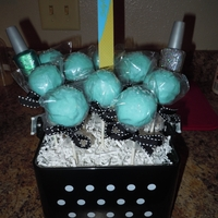 Cake Pops Chocolate cake pops made for a 10 years pedicure party