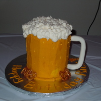 Beer Mug Ber mug, made with buttercream, handle is made on fondant. Thank you for all the ideas from eeryone on cake central