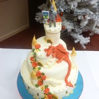 Dragon Castle Wedding Cake   An unusual request incorporating the best of England and Wales!