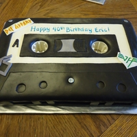 Cassette For a 40th birthday party with an 80's theme