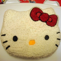 Hello Kitty Cake I made this Hello Kitty Cake for my 4yr old niece Hannah! I used the Darn Good Chocolate cake recipe with BC icing! Everyone loved it!