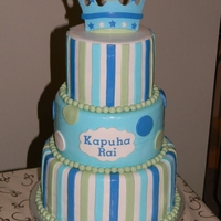 "A New Little Prince Cake design made to match the partyware ""a new little prince"""