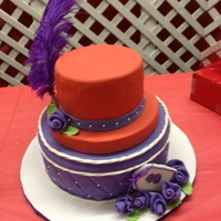 Red Hat With Purple Hat Box