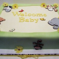 Noah's Ark Baby Shower Cake Vanilla WASC with Easy No-Cook Meringue Icing (the icing recipe can be found in the recipe section). Design inspired by the baby shower...
