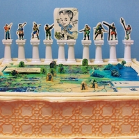 Civilization Iii Civilization III cake, requested by my son. Iced with Easy No-Cook Meringue Icing (in the recipe section). Figures are edible images backed...
