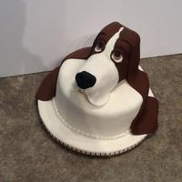 Fondant Covered Rice Krispie Modeled Basset Hound Head On 8 Inch Fondant Covered Cake For My Sisters Basset Hound Rescue Organization Fondant covered, Rice Krispie modeled Basset Hound head on 8 inch fondant covered cake. For my sister's Basset Hound rescue...