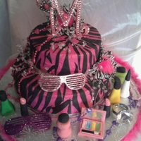 Diva Cake Diva Cake for my granddaughter. Zebra stripes are black fondant, butter creame frosting outside. Decorations are fondant, with non edible...