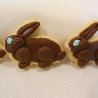 Chocolate Easter Bunny Cookies