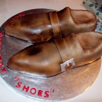 3D Shoes RKT Covered in Fondant