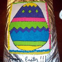 Easter Egg This was our easter cake this year. The girls picked what to do where. Tim and Gage picked the colors. It was a lot of fun to make, and was...