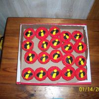 Incredibles Cupcakes These were for Gage for school. The colors weren't so...I NEED SUNGLASSES when I originally made them. LOL.