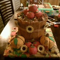 Fall Apple Bucket I made this cake for a cake contest at our local fair. I won 1st place and viewers choice!