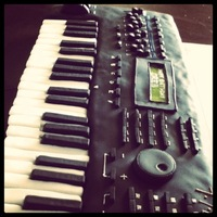 Keyboard Cake Fondant Keyboard cake. Handmade all the buttons/knobs/keys except for the black keys, they are Kit Kats covered in black fondant! The &quot...