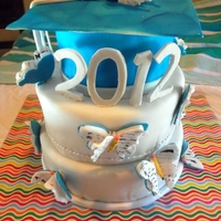 Butterfly Books Grad Cake Cake for a 6th Grade promotion ceremony