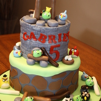 Angry Birds - Contest Entry All edible. Enjoyed making this cake.. lots of fun.
