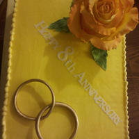 Blooming Love The rose is 100% edible as well as the rings! Oh the letters were made with the cricut cutter and the rose measures 5x6 inches