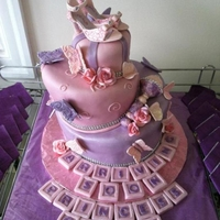 Coach Shoe Baby Cake this young lady wanted to have an over the top baby shower cake. So i came up with this. What you can not see is that there is 3 colors of...