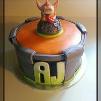 Skylander Skylanders cake a portal and character! everthing i made by hand and everything is edible.