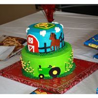 John Deere Bday Little boy's bday cake. Loved John Deere and Horses....