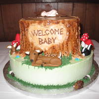 Woodland Baby Shower I made this cake for my neice's baby shower, the theme of her nursery is woodland animals and gnomes. The idea for this cake came from...
