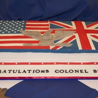 Colonel Retirement Cake Retirement cake for a Colonel currently serving in the UK hence both flags. The Colonel insignia was all handmade from fondant. It took a...