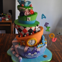 Alice In Wonderland I made this for our county fair. It's all dummy cakes covered with fondant, buttercream & royal icing. This was by far the most...