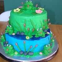 Froggy Themed Bday Cake