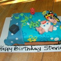 My Son's 8Th Bday Cake Made To Look Like His Bed :)
