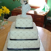 Quilted Wedding Cake With Silver Dragees
