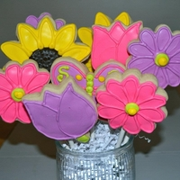 Mother's Day Cookie Bouquet This is a cookie bouquet for Mother's Day. Sugar cookies with vibrant colors