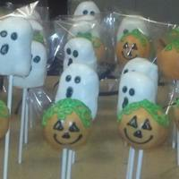 Halloween Cake Pops Ghost & Pumpkins Halloween Cake pops, ghost and pumpkins