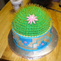 Cactus Cake Thanks you to CC for the idea to make this cake. My aunt need a cake with a southwestern feel! I used bc and mmf but for the prickers I...