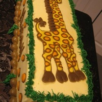 Mason's Giraffe Cake Royal icing giraffe lay-on and spots too