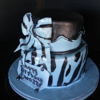 Raeannes B-Day Cake 8 and 6 inch round