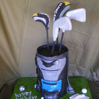 Golf Bag   6 8inch cakes.