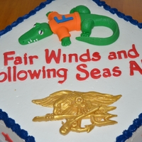 Navy Seal Retirement Cake