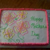 Mother's Day Mother's day sheet cake decorated in BC.