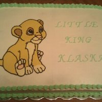Baby Klaska This Simba baby shower cake is decorated all in BC.