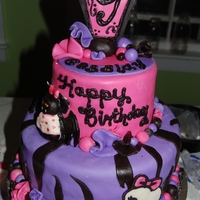 Monster High I used buttercream and mmf and some ideas from other MH cakes on cake central. Thank you!