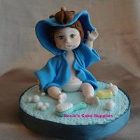Baby Shower Boy Cake Topper *Gumpaste baby shower topper.