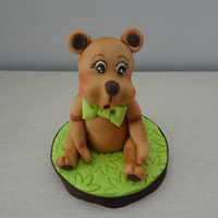 Baby Bear This is a gumpaste Baby bear cake topper