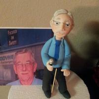 Man Figure *Made this figure for a retirement cake, tried to make it as close as I could to the real person. I used half fondant, half nick lodge...