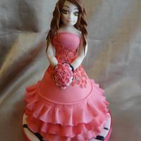 Sweet 16 Or Quinceñera Cake Topper *She is made out of gumpaste, I did use a face mold for this figure. Everything else is hand molded. I tried to make her dress look like...
