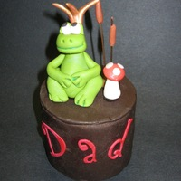 Father's Day Frog Prince Mini Cake Single serving Father's Day Frog Prince Mini Cake