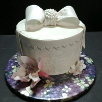 Inspiration Cake Central The Request Was For An All White Cake That Included A Japanese Magnolia Which Is The Brides Favorite Flower  Inspiration - Cake Central. The request was for an all white cake that included a Japanese Magnolia which is the bride's favorite...