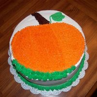 Pumpkin Cake A cake for a children's holloween party...didn't want anything scarry since it was more of a fall themed party.