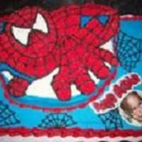 Spiderman   Spiderman with edible image.