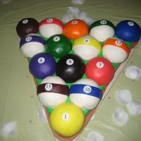 Rack Of Pool Balls  I was asked to do this for a wedding. I know that there are many like it. I cut the triangle from an 11x15 sheet, and the balls were the...