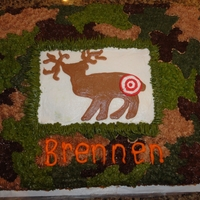 Bullseye   Sheet cake decorated in buttercream